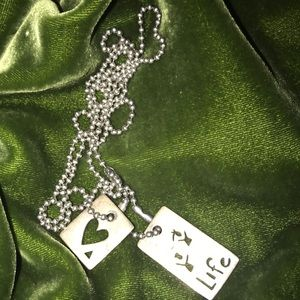 925 stamped Sterling Silver (2)charms on  chain